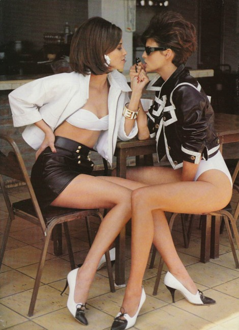 vintage fashion editorial 90s supermodels