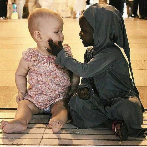 black child white child end racism